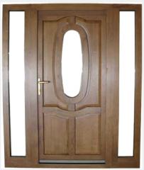 Doors from wood massive