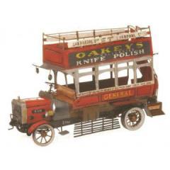 Decoratiune autobuz antic rosu