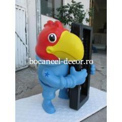 Decoratiune polistiren mascota papagal