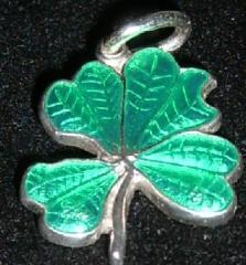 Amuleta trifoi din argint