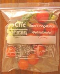 Pungi de plastic cu fermoar pentru alimente