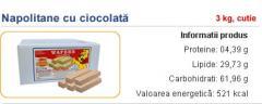 Napolitane cu ciocolata