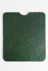Husa ipad verde din piele strut