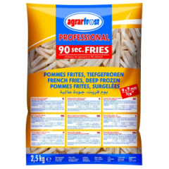 Frozen deep-fried potatoes