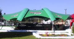 Dachy namiotowe z plandeku