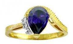 Inel de aur cu piatra de safir