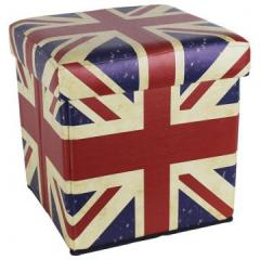 Taburet skin-Box Flag Engleza 36X36X36