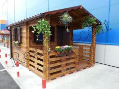 Casute de lemn cu terasa Casuta BRAN 3x4,50mx40mm