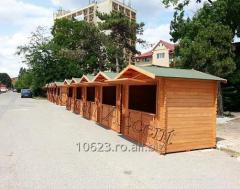 Chioscuri din lemn Casute pentru comert stradal, piete, targuri, expozitii, patinoare