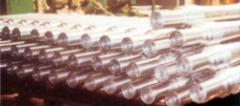Axles for diesel locomotives, carriages