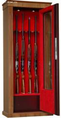 Seif 10 arme,vitrina,imbracat in lemn
