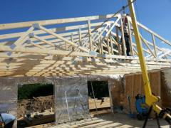 Case pe structura de lemn