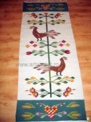 Carpeta traditionala olteneasca din lana