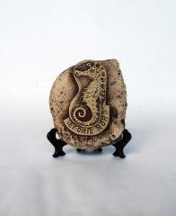Sculptures made of natural materials