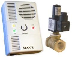 Detector de gaz Primatech Secor 2000 Dual cu electrovalva de alama 3/4