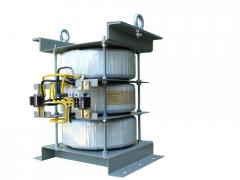 Three-phase block raising transformers