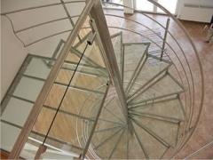 Spiral staircases from stainless steel