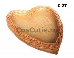 Platou din rachita in forma de inima