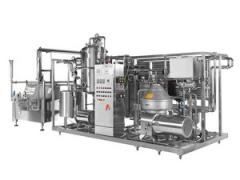 Sterilizing plant for the pasteurization of milk