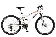 Bicicletas de montañas con dos colgantes