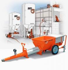 Machines for the guniting of concrete mixture