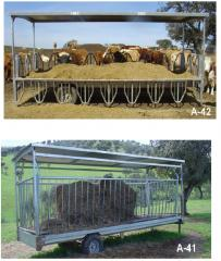 Trailer cattle grid