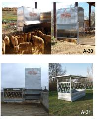 Animal feeding equipment with single / dual access
