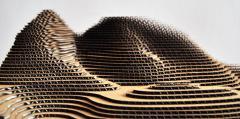 Three-layer corrugated cardboard