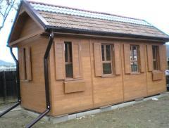 Cottages wooden (log-house)