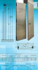 Double, recoiling doors for refrigeratories and