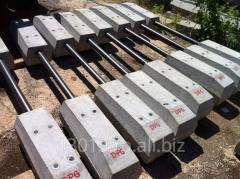 Bars ferro-concrete for symmetric crossing piece