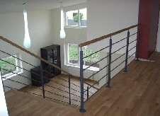 Balustrada pentru scarile cu structura metalica