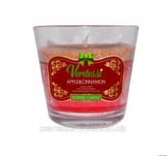 Apple & Cinnamon scented candle - Verdessi