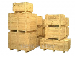 Packing made of natural wood