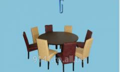 Masa rotunda cu scaune Tobago