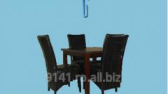 Masa din lemn pal furniruit cu scaune bob 2