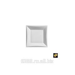 Farfurii din plastic 18x18cm alb, 6 piese