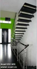 Stairs made of granite