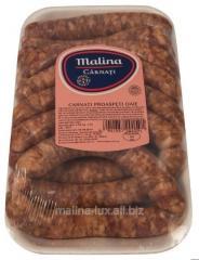 Fresh sausages sheep