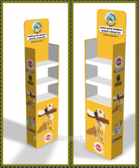 Advertising stands made of cardboard