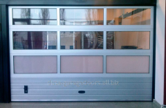 Usi de garaj sectionale vitrate