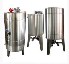 Bazin pentru miere cu capac si omogenizator