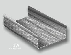 Profile metalice pentru structura gips carton tip UW