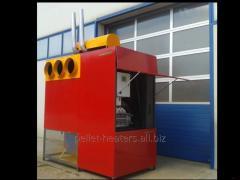 Pellet hot air and overheated air generators