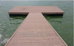 Wooden pontoons