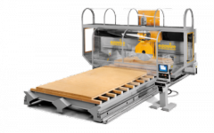 Equipment for production of wooden houses panels