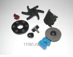 Mechanical rubber component supporting