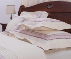 Lenjerie de pat din bumbac 100%, culoare natur, model Zig Zag, 240x240 cm - LNJ-68
