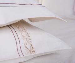 Lenjerie de pat pentru 2 persoane, bumbac 100%, alba, 240x240 cm - LNJ-06