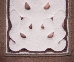Traversă lana, culoare maro, model dantelat - 13